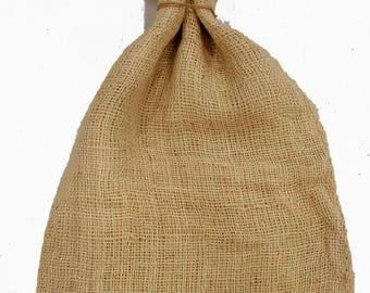 4 pcs Set, Burlap sack, Burlap Bag for various uses, Burlap Gift Bag, 27x13Inch, Red ribbon Mouth ,Perfect for packing gift or potatoes