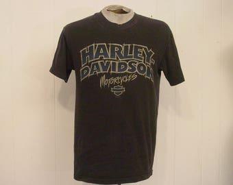 Vintage t shirt, Harley Davidson t shirt, Motorcycle t shirt, San Diego, vintage clothing, medium