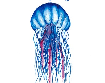 Be Jelly- Blue Jellyfish