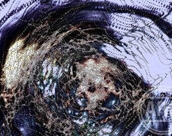 Purple Pixel-Mare Art Print