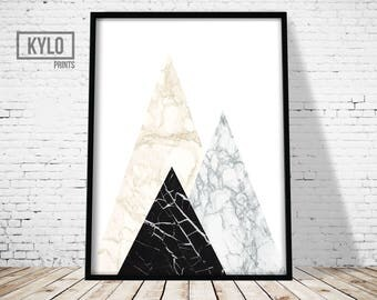Geometric Print, Abstract Poster, Geometric Art, Abstract print, Marble Print, Modern Print, Scandinavian Art Print, Printable Art, Home Art