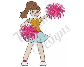 Cheerleader Girl - Machine Embroidery Design