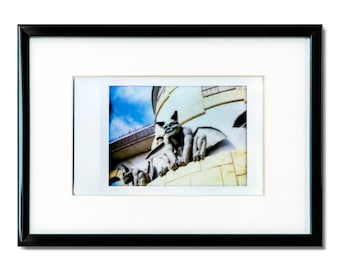 "Fine Art Photography ""Gargoyles"" Framed Instax Mini Print"