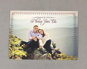 Vintage Please Join Us Christmas Save the Date 5x7 Postcards