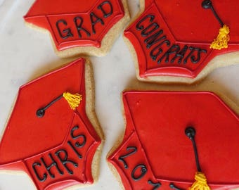 Custom Graduation Cookies (MINIMUM QUANTITY of 12)
