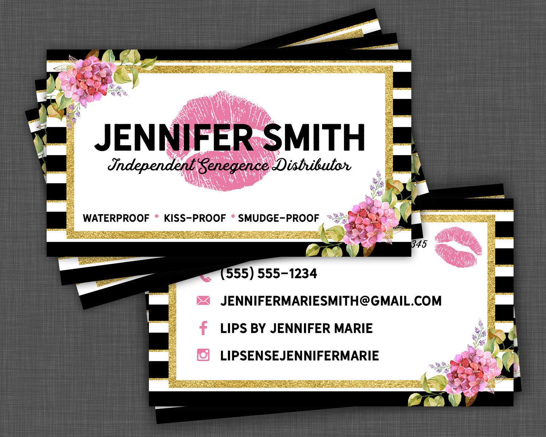 lipsense business cards - Senegence Business Cards