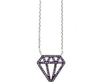 925S Purple Diamond Necklace