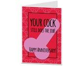 Rude Anniversary Card. Anniversary Card Husband Boyfriend. Rude Funny I Love You Card Him. Naughty Anniversary Card. Mature