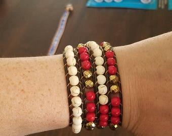 Wrap bracelet wraps 4 times