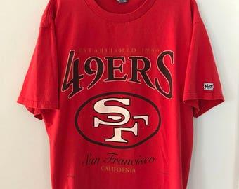 Vintage 1993 San Francisco 49ers T-Shirt XL Lee Nutmeg