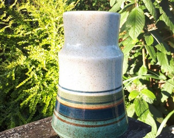 Lapid Striped Vase Made in Israel Signed Ester