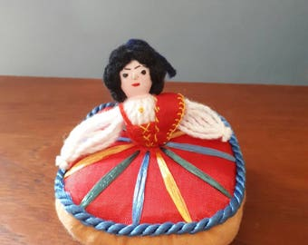 Vintage Pincushion Madeira  Traditional Dress Girl