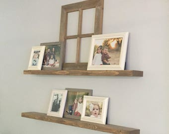Wood Floating Shelves // Knotty Alder Floating Shelf // Set of 2 TWO