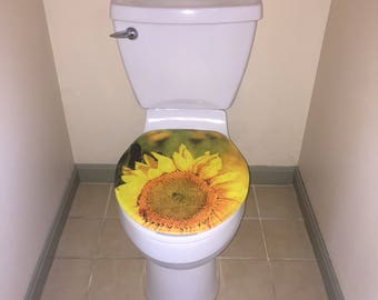 gold toilet seat cover. Sunflower Toilet Seat Cover seat cover  Etsy