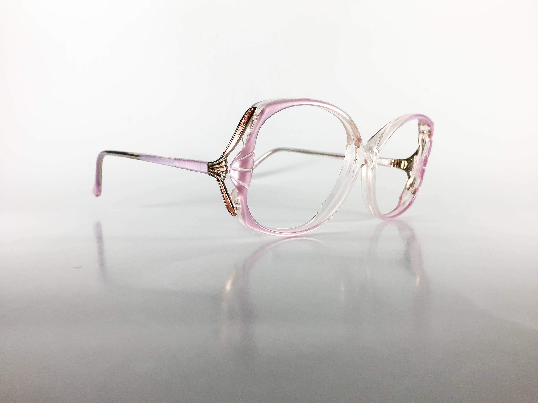 Vintage Eyeglasses Women\'s Frames 1980s Oversized Purple Eyewear ...