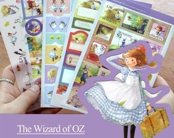 Stickers 5 sheets set the wizard of Oz