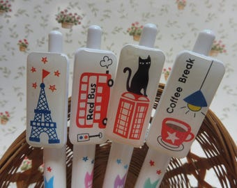 Ballpoint pens with decorations