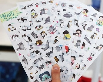 Stickers cute kittens