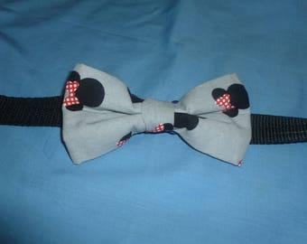 Minnie Mouse Head Dog Bowtie, doggy bow ties, dog bow ties, disney dog bow ties, dog collar bow tie