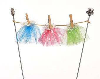 Fairy Clothes Line with fairy skirts, Fairy Washing Line with fairy skirts,  Washing Line, Fairy Garden Accessory, The Fairy Garden