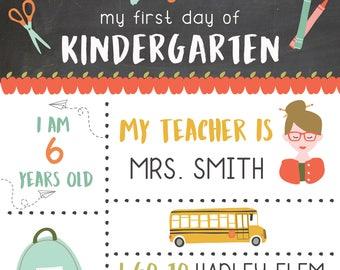 First Day of School Board - Boys & Girls