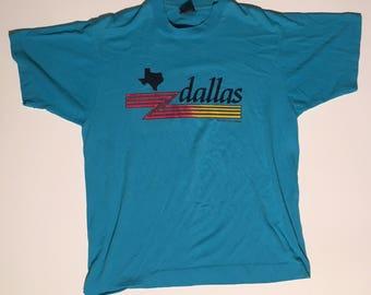 Vintage 90s Dalls Texas souvenir t shirt large