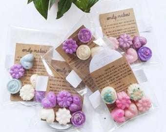 Mother's Day Personalised 10 x Scented Soy Wax Melts For Wax Warmers / Gift