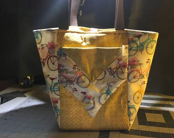 GOING FOR A RIDE - reversible tote