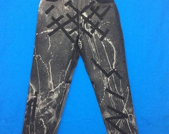 20% OFF Vintage 90s LEVIS Acid Wash Crazy Design Denim Pants Size 28