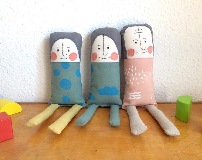 Hand-Printed Fabric Dolls