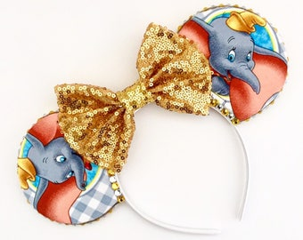 The Flying Elephant - Handmade Mouse Ears Headband