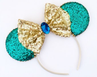 The Full Sequin (Jasmine) - Handmade Sequin Mouse Ears Headband