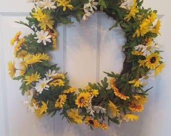 Summer wreath/ spring wreath/ holiday wreath/ housewarming wreath/ top selling wreath/ door wreath/ front door wreath
