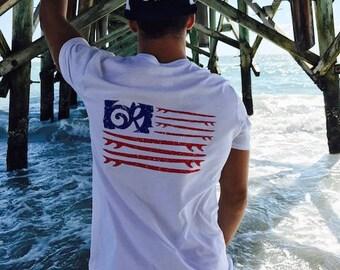 Ocean Raised American s/s tee