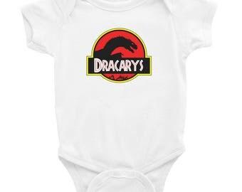 Dracarys Baby One Piece GoT Dragon White OnePiece