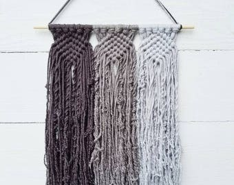 Custom Macrame Wall Hanging, Choose 3 Colors, Modern Minimalist Boho Woven Wall Decor, College Dorm Decorations, Christmas Gifts Under 30