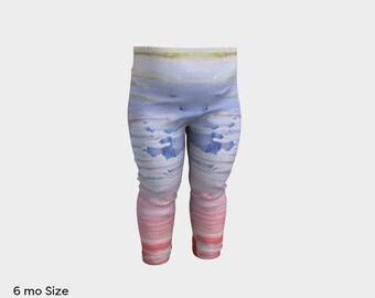 """Baby/Toddler Leggings - """"Sunsets & Water"""" in: 6mo, 1yo, 2yo, 3yo (quick dry)"""
