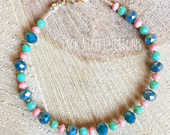 Teal and Pink
