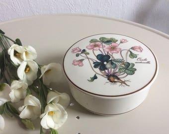 Vintage round ceramic porcelain lidded jar Villeroy & Boch Botanica