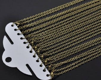 Necklaces chain link lobster clasp accessory 12 Bronze 45.72 cm
