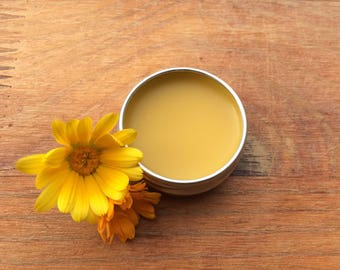 100% Natural&Artisanal Handmade Calendula Salve with Beeswax and Lavender Essential Oil