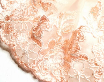 beautiful m 1.46 lace pink lace edged 16.5 cm