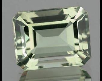 Green Amethyst Loose Gemstone - 3.24 Carat Eye Clean Octagon Facet