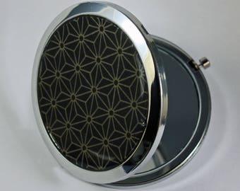 Pattern Pocket mirrors Japanese asahona dark blue background