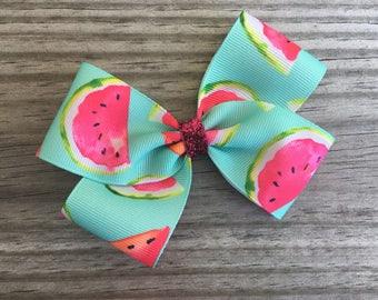 Watermelon Bow / Watermelon Hair Bow