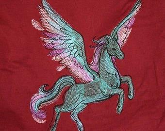 Embroidered Sweatshirt, Pegasus, XL