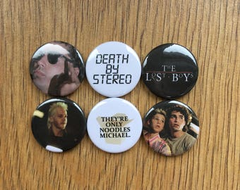 The Lost Boys badge set pins/buttons/badges