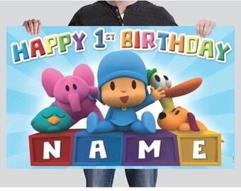 BANNER - Pocoyo Birthday Banner