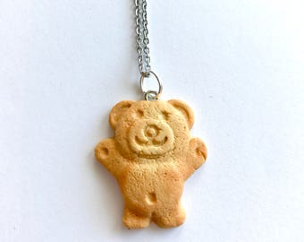 Vanilla Scented Tiny Teddy Pendant with Necklace - Iconic Australian Biscuit