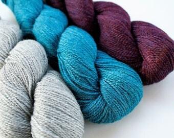 Knitting Wool, Artisan Yarn, Fingering Yarn, Fingering Weight, Merino Wool, Alpaca Silk & Merino Blend,  Mirasol Sulka Legato